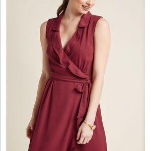 ModCloth Daytime Dapper Wrap Dress -EUC